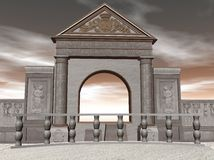 Temple illustration. A 3D illustration of an old temple Stock Photography