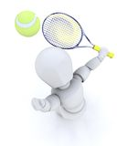 3D tenis player serving Stock Image