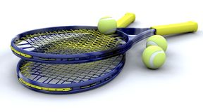 3d Tennis equipment royalty free stock photo