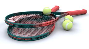 3d Tennis equipment Stock Photos