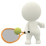 3D Tennis player Stock Images