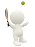 3D Tennis player Royalty Free Stock Image