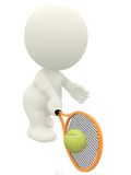 3D Tennis player Stock Photography