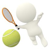 3D tennis player Royalty Free Stock Photography