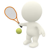 3D Tennis player Royalty Free Stock Photos