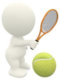3D Tennis player Royalty Free Stock Images