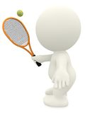 3D Tennis player Stock Photos