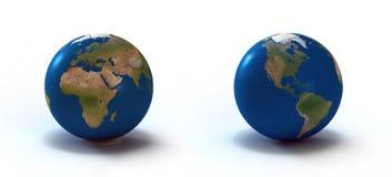 3d teruggegeven aarde vector illustratie
