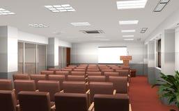3D teruggegeven conferentieruimte Stock Foto