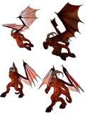 3D teruggegeven demon royalty-vrije illustratie