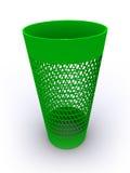 3D teruggegeven lege kringloopbak Stock Afbeelding