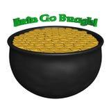 3D Teruggegeven Pot van Goud met het Ierse Zeggen Royalty-vrije Stock Fotografie