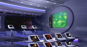 3D teruggegeven ruimteschip vector illustratie