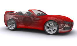 3D teruggegeven sportwagen van het Concept stock foto's