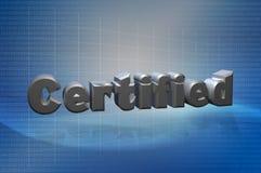 3D testo certificato Techno Immagine Stock