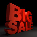 3d text BIG SALE. 3d text red BIG SALE Stock Photos