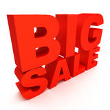3d text big sale. 3d text red big sale Stock Photo