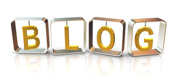 3d text blog Royalty Free Stock Image