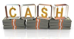 3d text cash Stock Image