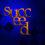 3D Text Concept Succeed royalty free illustration