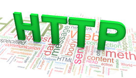 3d text 'HTTP' on http wordclod background Stock Photo