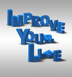 3D Text Inspiration Message Improve Your Life Royalty Free Stock Photography