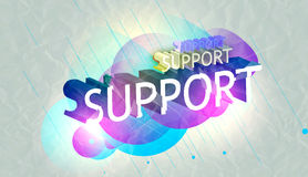 3d text support Royalty Free Stock Photo