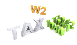 3d text of TAX forms Stock Images