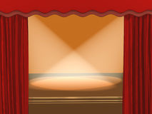 3d theatrical stage, covered by projectors Stock Photo