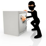 3D thief Royalty Free Stock Images