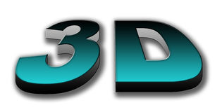 3D Three Dimension Text Royalty Free Stock Photo
