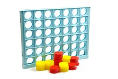 3D tic tac toe Royalty Free Stock Image