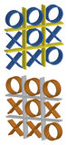 3D Tic Tac Toe #2. 3-Dimensional looking Tic Tac Toe game Royalty Free Stock Images