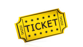 3d ticket. On white background Stock Image