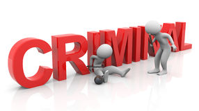 3d tied criminal investigation Royalty Free Stock Photography