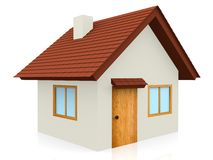 3D Tiled roof house Royalty Free Stock Photo