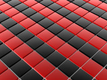 3D tiles. 3D shiny tiles illustration render royalty free illustration