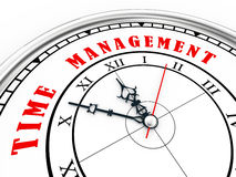 3d time management clock Royalty Free Stock Photo