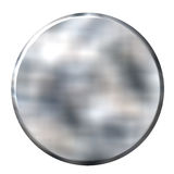 3D Tin Foil Circular Button Royalty Free Stock Photos