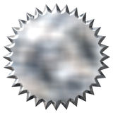 3D Tin Foil Seal Stock Photo