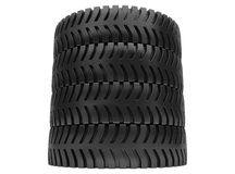 3d tires Royalty Free Stock Images