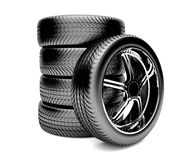 3d tires. Isolated on white background Stock Photography
