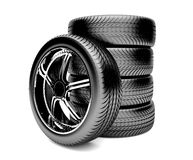 3d tires Stock Photo