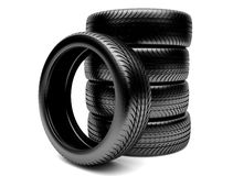 3d tires Stock Image