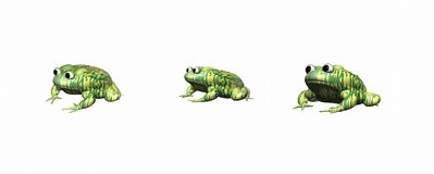 3D toads Stock Images