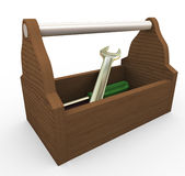 3d toolbox Stock Image