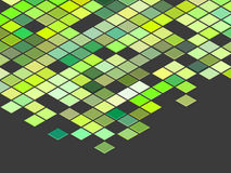 3d top view green colored cubes on gray Stock Photography