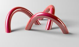 3D Torus die uit de grond komt royalty-vrije stock fotografie