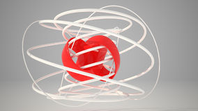 3D Torus knots Royalty Free Stock Images