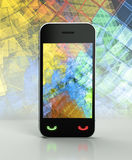 3d Touch screen phone Royalty Free Stock Photos